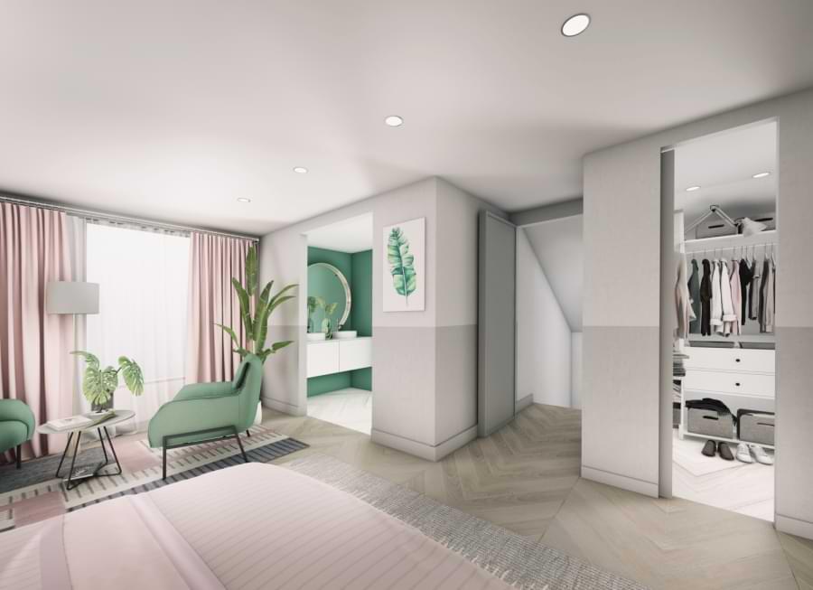 Blenheim Grove second floor bedroom & ensuite