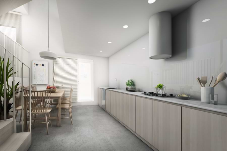 Blenheim Grove lower ground kitchen