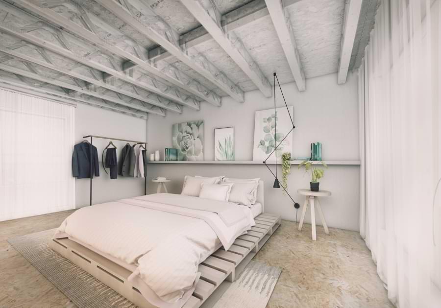 Blenheim Grove bedroom Basic option
