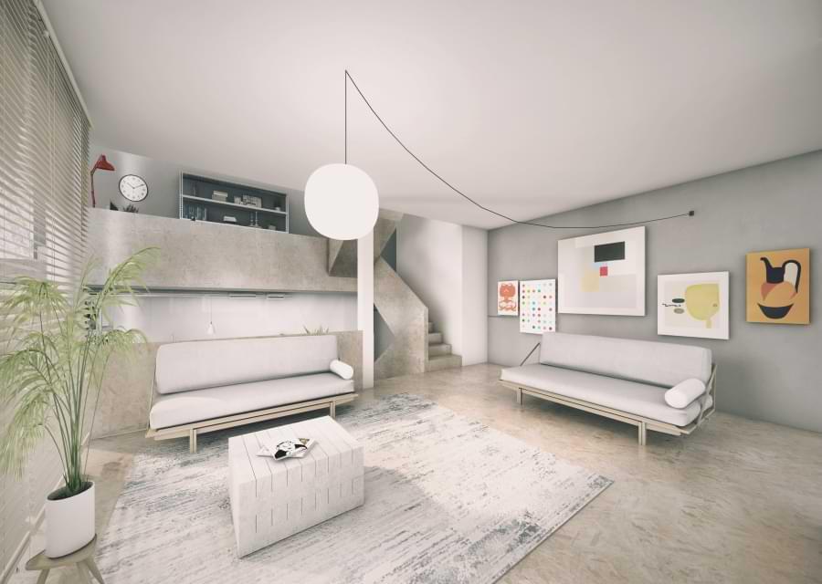 Blenheim Grove Basic option living room